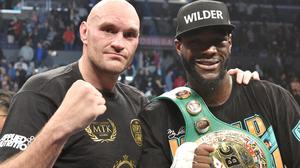 Tyson Fury and Deontay Wilder drew their first fight in December 2018 (Lionel Hahn/PA)