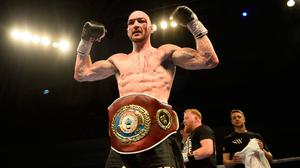 Ready to go: Steven Ward can't wait to get back in the ring