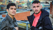 Greatest showman: Sean McComb (right) is ready to entertain against Mauro Maximillian Godoy (left) at the Ulster Hall tonight