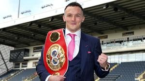 Josh Warrington would fight behind closed doors to unify the featherweight division (Bradley Collyer/PA)