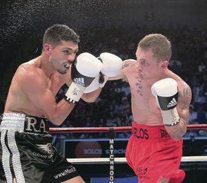 Title delight: Carl Frampton proves his class as he clinches the  inter-continental crown against Raul Hirales in May 2012