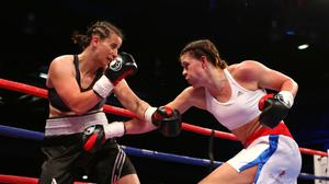 Savannah Marshall (right) fears her world title fight will be postponed (Dave Thompson/PA)