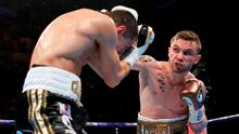 Power and the glory: Carl Frampton on his way to a points victory over Scott Quigg