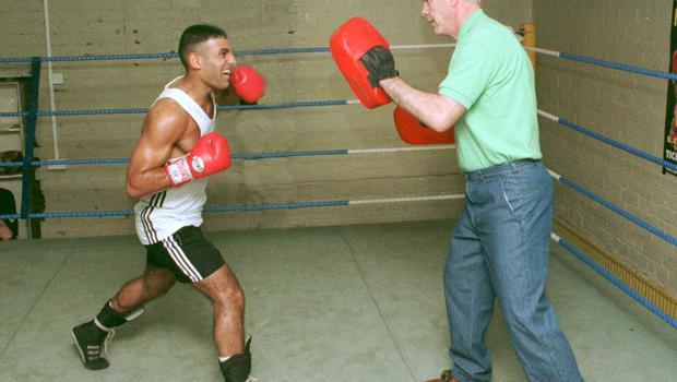 Boxing Prince Naseem trains