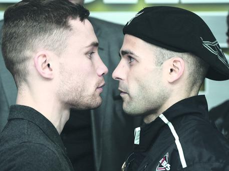 Carl Frampton and Kiko Martinez square up ahead of tomorrow's big Odyssey showdown