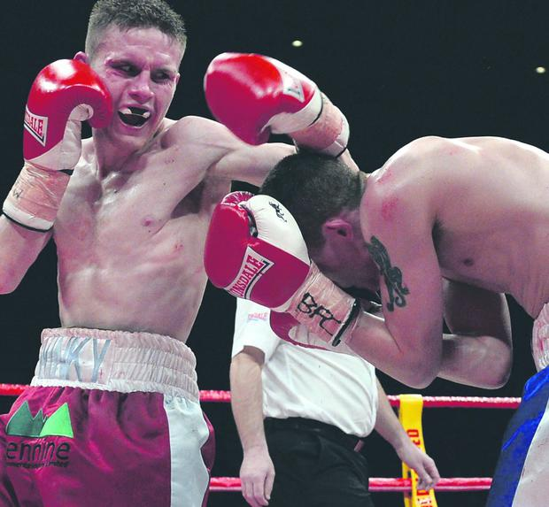 Kevin Satchell and Luke Wilton fought for 12 gruelling rounds