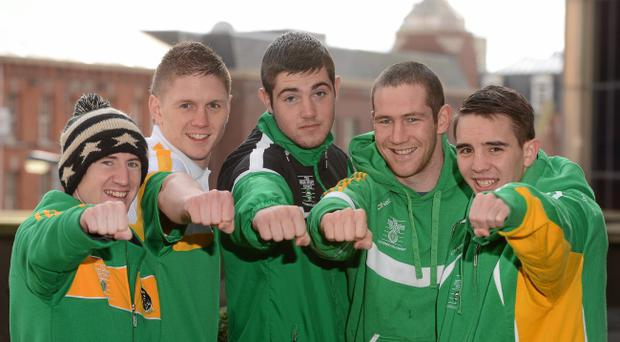Jason Quigley, Paddy Barnes, Michael Conlan, Joe Ward and Willie McLaughlin, will compete at the Odyssey