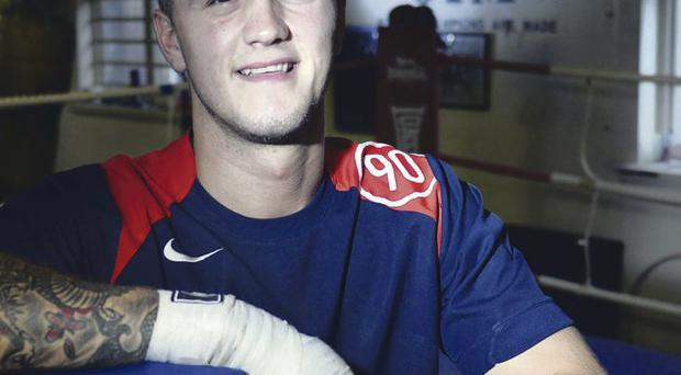 Braced for action: Marc McCullough will take on Jon Slowey for the Celtic featherweight title in Scotland next month