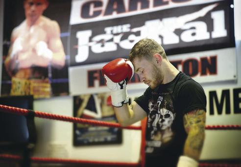 Thinking big: Carl Frampton, in his old amateur club Midland, knows the stakes are getting higher as he pursues World honours