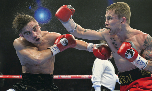 Carl Frampton stopped Jeremy Parodi in the sixth round on Saturday night to the delight of the Belfast crowd