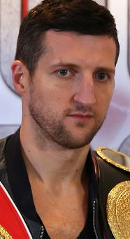 Champion: Carl Froch is feeling in confident mood