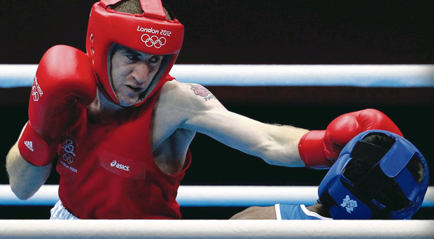 Paddy Barnes on his way to London 2012 Olympic bronze but attraction of paid ranks could see him turn pro before Rio Games