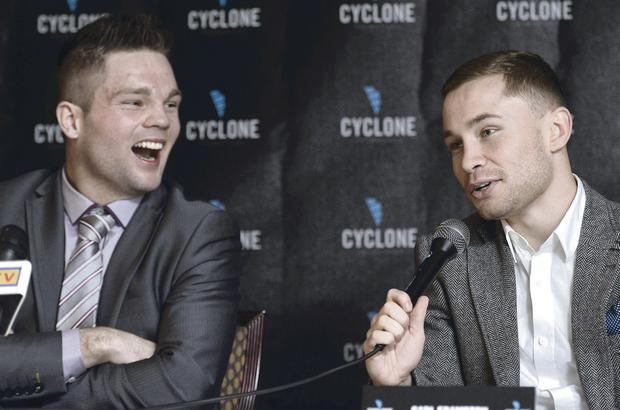 Carl Frampton was delighted to welcome Conrad Cummings to Cyclone Promotions