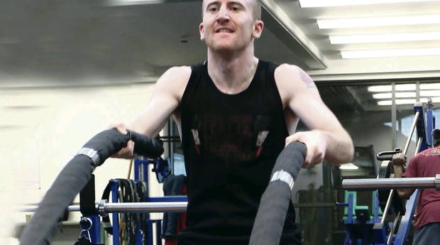 Paddy Barnes works out at the SINI facility