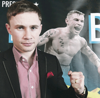 Carl Frampton shows he's in great shape at yesterday's fight announcement