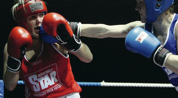 Boxing clever: Alanna Audley-Murphy (left) is on course for the Commonwealth Games