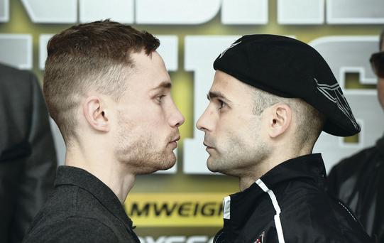 Carl Frampton knocked out Kiko Martinez when the pair fought last February in Belfast