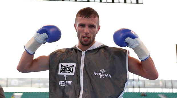 Shot at the big time: Anthony Cacace will get a chance to shine on the Frampton bill at the Odyssey Arena on February 28