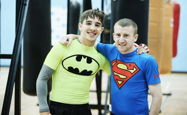 Going for gold: Michael Conlan (left) and Paddy Barnes qualified for the 2016 Rio Olympics on Saturday night