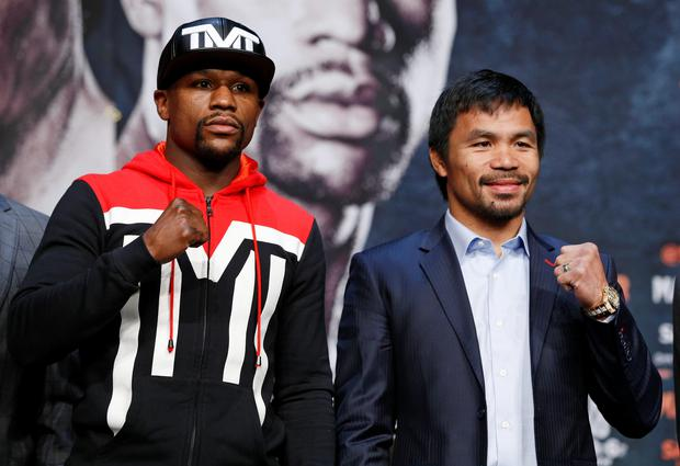Ready for battle: Floyd Mayweather and Manny Pacquiao
