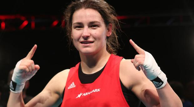 Olympic champion Katie Taylor is glad to be back after a wrist injury