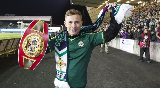 Carl Frampton will make the second defence of his IBF super-bantamweight title