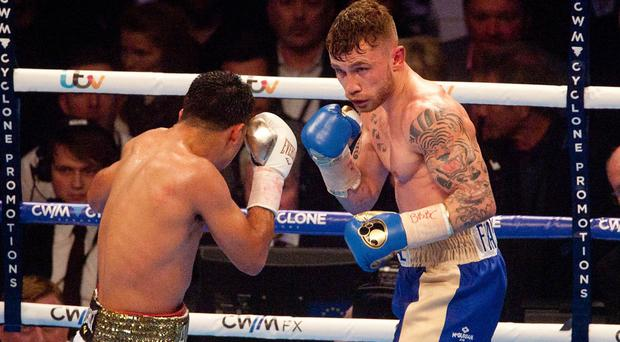 Northern Irishman Carl Frampton, right, is looking to build a fan-base in the United States