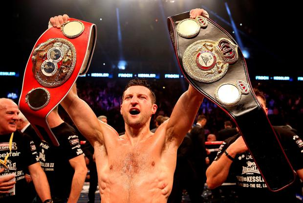 Leaving the stage: British ace Carl Froch, a four-time World super-middleweight champion, is hanging up his gloves