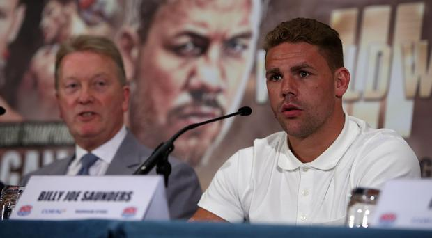 Billy Joe Saunders will face Andy Lee for the WBO middleweight title in Manchester on October 10.
