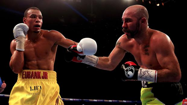 Chris Eubank Jr, left, defeated Gary O'Sullivan