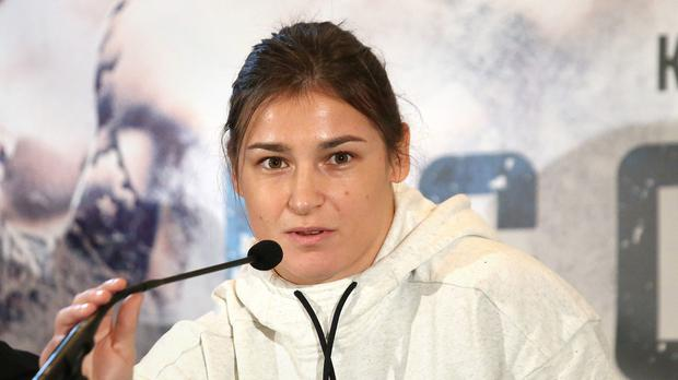 Katie Taylor claims victory in professional debut