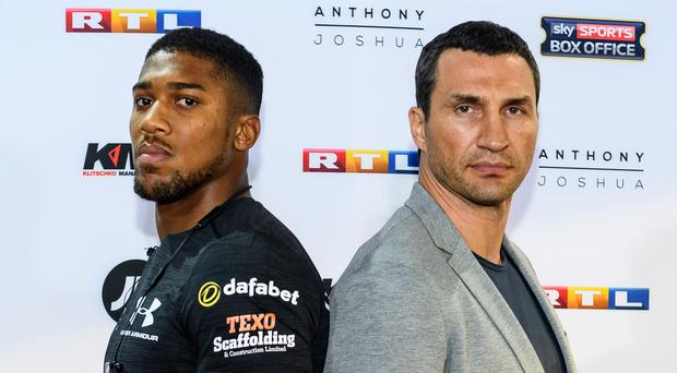 Rivals: Anthony Joshua and Wladimir Klitschko