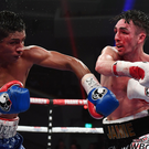 High drama: Jamie Conlan on the attack in his recent thriller with Yader Cardoza at the Waterfront Hall