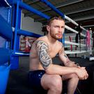 Meaning business: Carl Frampton is keen to get back to his best after his loss to Leo Santa Cruz