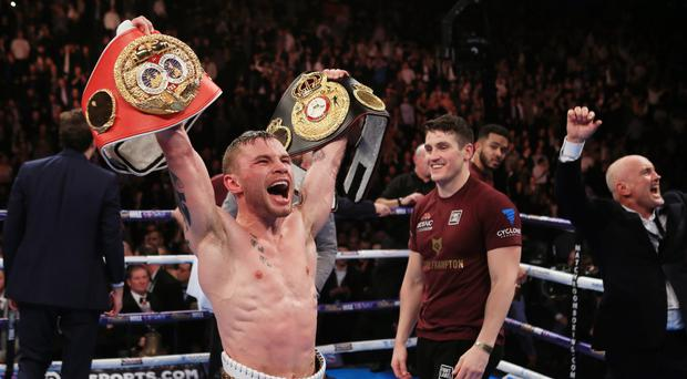 Carl Frampton, pictured, linked up with promoter Frank Warren at the weekend