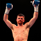 Raring to go: Paddy Gallagher can't wait to get back into the ring after his bout in July was cancelled