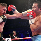 Ryan Burnett connects with Zhanat Zhakiyanov