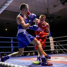 Packing a punch: Steven Donnelly (right) in action last year against Louis Richardson