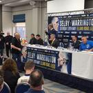 Lee Selby and Josh Warrington previewed their fight at Elland Road on Wednesday (Mark Walker/PA)