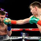 Ring master: Michael Conlan used his jab effectivley before despatching Hungarian David Berna