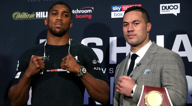 Anthony Joshua (left)