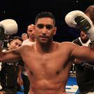 Amir Khan made a victorious return to the ring (Peter Byrne/PA)