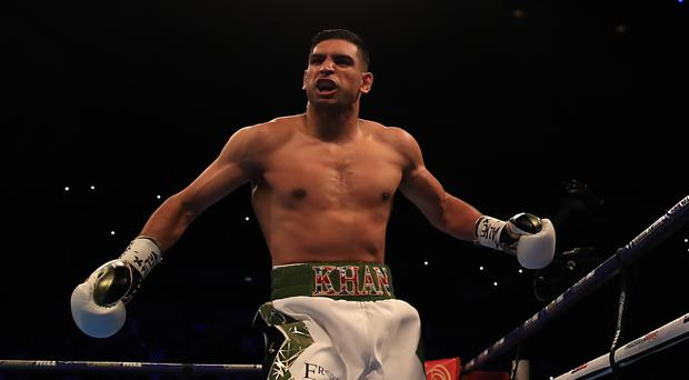 Amir Khan has options after his comeback win (Peter Byrne/PA)