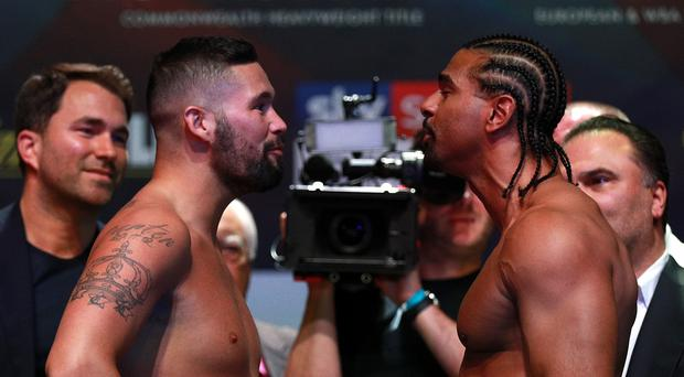 David Haye and Tony Bellew Weigh-In – O2 Arena