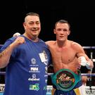 Family affair: Josh Warrington and his dad Sean O'Hagan
