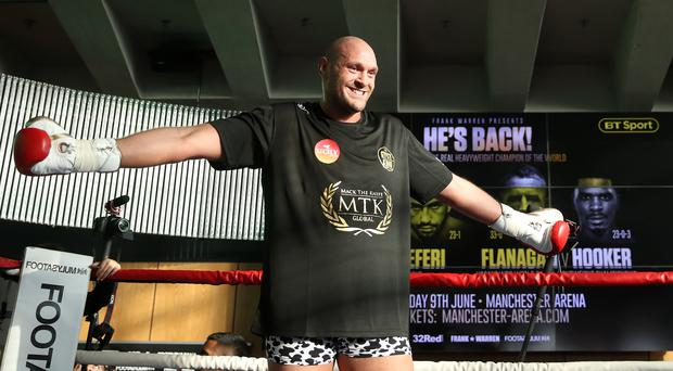 "Tyson Fury insists he is ""right on course"" as he returns to the ring after almost three years away (Nick Potts/PA)."