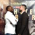 Dillian Whyte, left, and Joseph Parker will fight at London's O2 Arena on July 28 (John Walton/PA)