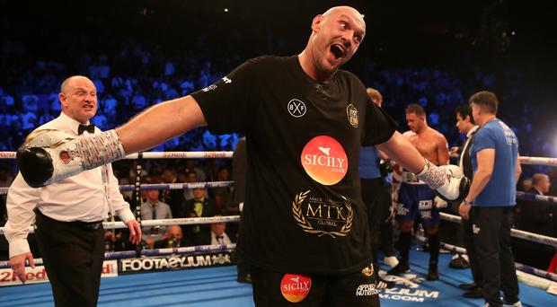 Tyson Fury won his comeback bout at Manchester Arena (Nick Potts/PA)