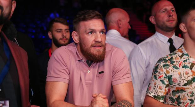 Star guest: Conor McGregor was an interested spectator