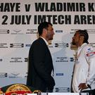 David Haye's fight with Wladimir Klitschko in 2011 was the biggest of his career